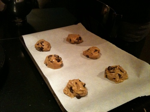 Use parchment paper to keep cookies from sticking to the pan.