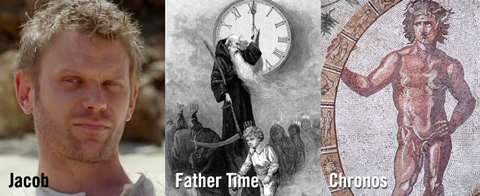 Like Chronos and Father Time, Jacob is the protector of time. (note that Chronos is often depticted as turning the wheel of the zodiac)
