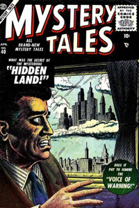 "A land disjointed from time becomes a floating island seperated not just geographically but also chronologically. Similar to the Mystery Tales #40 cover seen in LOST episode ""Cabin Fever"""